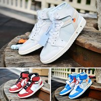 TOP 1 X White mens basketball sneakers 1s OG UNC powder blue...