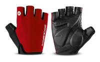 Rockbros radfahren handschuhe halbe finger bike handschuhe stoßfest atmungsaktiv mtb mountain bike handschuhe männer sport radfahren kleidung
