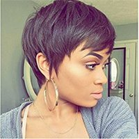 Wigs for black women Pixie cut short human hair wigs for bla...