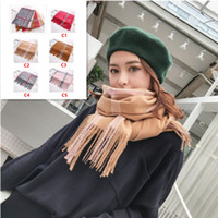 New Fashion Winter Scarf Women 2018 Warm Plaid Luxury Scarf ...