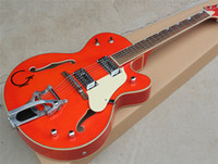 Factory Orange Semi- hollow Electric Guitar with White Pickgu...