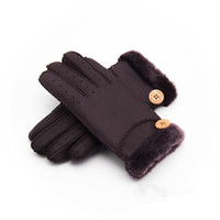 Wholesale -   New Warm winter ladies leather gloves real wool...