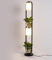 Nova arte moderna plantas criativas platsecloth luz de pé para escritório, café, restaurante, lâmpadas e lanternas lâmpada de piso
