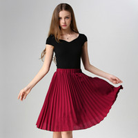 Pleated Skirt Spring Autumn 2017 European Style Elegant Tull...
