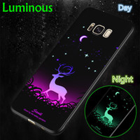 Venta al por mayor Luminous Soft TPU Funda protectora para iphone 7 7Plus 6S 6Plus 8 8Plus X XS XR XS MAX Contraportada para Samsung S9 Phone Case