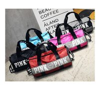 Pink Letter Travel Bag Large Capacity Hand Luggage Travel Du...