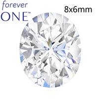 1.5CT Carat Colorless Oval Cut VS DEF Color Certified Charles Colvard Forever One Loose Moissanite Gemstones With Certificate