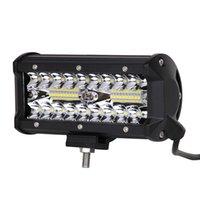 7インチバーワークライトフラッドスポットコンボ120W 40-LED 6000Kドライブランプの防水LEDバーライトSUV ATVトラックオフロードボート4WD