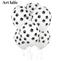10Pcs Latex Print Balloons Paws Quality Party Birthday Holiday Dog Patrolling Supplies Decoration Top Toys Jeqst