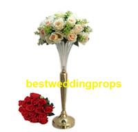 Vases en verre de cylindre en cristal d'or pour la maison mariage pièces maîtresses Décorations pour le décor d'événement best0219