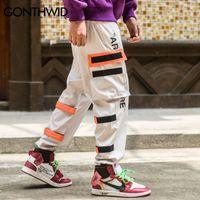 Side uomo GONTHWID tasche cargo Harem 2018 Hip Hop, maschio casuale tatical Pantaloni pantaloni adattano i pantaloni Streetwear casual