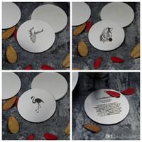 Posavasos de acero inoxidable Simple Style Cup Mat almohadilla resistente al calor Fashion Flamingo Pattern Circle Vajilla Venta caliente 5zx ii