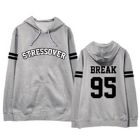 Sweatshirts Männer Hoodies BTS lose koreanische Student Sweatshirt Brief drucken Harajuku Hoodies Pullover Hip Hop Frauen Hoodies