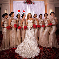 Rose glod sequined mermaid Bridesmaid Dresses 2018 Cheap bli...
