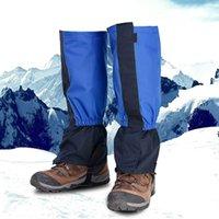 2018 unisexe imperméable Legging Gaiter Leg Couverture Camping Randonnée Chasse Chaussures de neige Ski Voyage Escalade Boot guêtres coupe-vent H5