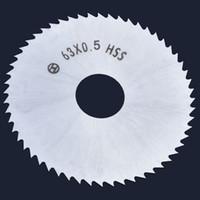Mini Lama per seghe circolari da 63 mm Disco in acciaio ad alta velocità da 52 mm Dischi da 16 mm Apertura per utensile da taglio in lamiera di alluminio per legno