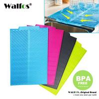 WALFOS 100% пищевой силикон placemat большой портативный полезный нетоксичный новый дизайн силиконовый коврик для сушки посуды