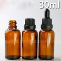 유리 Dropper Ejuice 병 30 ml 앰버 드롭 병 블랙 골드 고무 모자, 최고의 가격 440Pcs 30 ml Dropper 유리 컨테이너