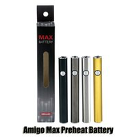 Original Amigo Max Vorwärmen Batterie 380 mAh Variable Spannung VV Bottom Charge 510 Batterie Für Liberty V9 Dicke Öl Patrone Tank Authentic