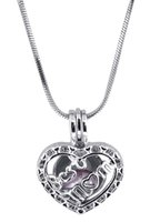 18KGP Perle Cage Pendentifs Amour Souhaitez Meilleure Maman Perle Gem Perles Cage Médaillons Pendentifs DIY Collier P63