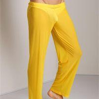 Pantaloni lunghi trasparenti Uomini sexy Pantaloni larghi in mesh Pantaloni larghi attillati Pantaloni da pigiama Pantaloni a vita bassa Pantaloni sportivi a vita bassa