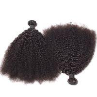 Brasilianische afro kinky lockige menschliche haare bündeln unverarbeitete remy haare webt doppelte FEFTS 100g / Bündel 2bundle / lot Haarverlängerungen