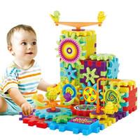 81 Peças Engrenagens Elétricas 3D Puzzle Kits de Construção Tijolos De Plástico Brinquedos Educativos Para Crianças Brinquedos Para As Crianças Presente de Natal