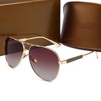 0813 novo popular óculos de sol de luxo mulheres marca de design estilo  retro piloto óculos 546447b924