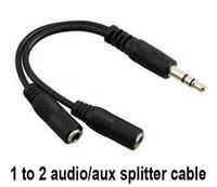 Sıcak Ses Dönüşüm Kablosu 3.5mm Erkek Kadın Kulaklık Jack Splitter Ses Adaptörü Kablosu Toptan LFA