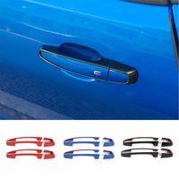 Автомобильных кузова дверных ручек украшения рамка крышка наклейка Обрезка для автомобиля Стайлинг Chevy Camaro 2017+ Авто Внешних аксессуаров