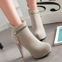 Plus Size 34 To 40 41 42 43 Sexy Platform High Heels With Zi...