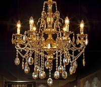 Lampadario per lampadario in cristallo dorato Lampadario a soffitto moderno lampadario a soffitto moderno lampadari di cristallo di cristallo di Murano lampadario in stile veneziano