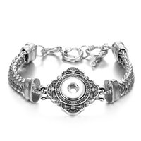 Оснастки кнопки браслеты подходят 12 мм кнопки Нуса куски Оснастки браслет Нуса Оснастки ювелирные изделия для женщин