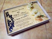"""Acryl klar maßgeschneiderte Fleur Hochzeit lädt, Acryl Hochzeitseinladungen mit schwarzen Schriften, Acryl Einladungen Karte (5,5 """"x 5,5"""" xT1 / 12 """")"""