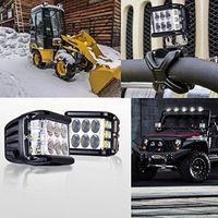 """트럭 UTV ATV SUV 보트 지프 오토바이 용 2 개 4 """"90W 점멸 LED 워크 라이트 바 포드 Dually 한 사이드 슈터 큐브 조명"""
