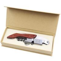Botella del hipocampo cuchillo Abridor de madera acero inoxidable puede Vino Tinto Abridores de múltiples funciones del sacacorchos de tornillo pequeña cocina Tools 9 5xj VY