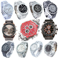 10pcs Lot, Mixed Bulk Silver Fashion Men Watches Stainless S...