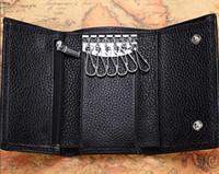 키 파우치 브랜드 가방 보유 최고 품질의 유명한 클래식 디자이너 여성 6 키 홀더 돈 지갑 가죽 남성 카드 홀더 지갑 핸드백