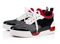 [С бумажным пакетом] Высокое качество Nice Man Like Sneaekrs Роскошные красные кроссовки Мужские кроссовки Aurelien Flat Sports Geunine Leather