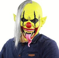 Horror Green Face Clown Mask Halloween Christmas Foreign Tra...