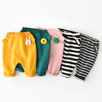 INS baby kids clothing pants winter girl boy stripped solid ...