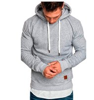 Sudaderas con capucha atléticas para hombre Moda Color sólido Sudaderas deportivas casuales