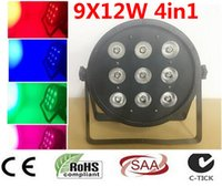 CREE LED 9x12W plat SlimPAR Quad lumière LED 4in1 DJ Wash Lumière scène uplighting No Noise