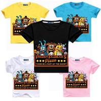 2018 Nouvel été Manches Courtes Garçons T-shirt Cinq Nuits À Freddy Enfants Chemises Bébé Filles T-shirt de Bande Dessinée Impression Tops Tee
