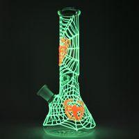 어두운 봉 형광등 유리 비커베이스 봉의 아름다운 패턴 UV DAB 장비 스트레이트 튜브 물 파이프 오일 rigs GID01-GID04