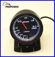 2.5 pulgadas 60MM DF Advance CR Gauge Meter Boost Turbo Gauge -1-2BAR Negro cara con Turbo Sensor