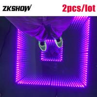 80% Rabatt Abyss Effect 3D Spiegel Bodenbelag Tanz DMX512 DJ Disco Party Hochzeit Beleuchtung Spiegel führte Tanzfläche mit Flightcase