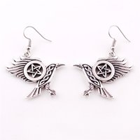 New Arrived Viking Style Unisex Earrings 3D Crow Raven With ...