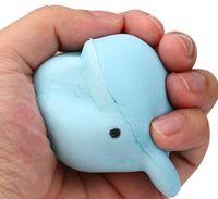 BUSCADOS 9 CM Jumbo Kawaii lindo de la historieta Squeeze blando delfín ballena Millie suave lento aumento de la correa Pan Kid juguete de regalo