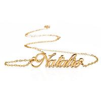 SPLENDIDA RACCONTO all'ingrosso personalizzata Carrie nome stile collane in acciaio inox personalizzata con qualsiasi gioielli regalo Nome di moda
